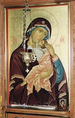 Mary's icon on the Iconostas